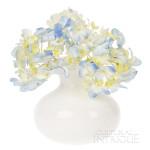 Vintage Milk Glass Vase (ruffle top design)