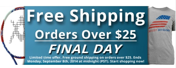 Limited Time Offer Free Ground Shipping
