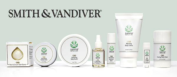 Smith & Vandiver's new CBD products for skin, bath, and relief.